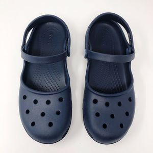 Crocs Mary Jane Double Strap Navy - Women's Size 9